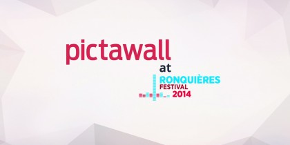 Pictawall at the Ronquières Festival 2014